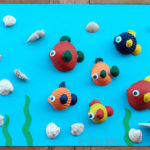 τροπικά ψάρια από κοχύλια