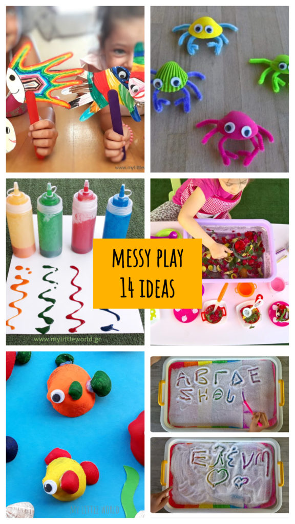 messy play 14 ideas